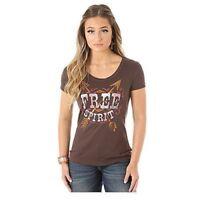 Wrangler Women's Short Sleeve Crew Neck FREE SPIRIT T-Shirt LWK512E