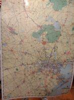 Houston and Vicinity Laminated Wall Map (R)