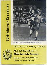 DDR-Liga 79/80 BSG activista Espenhain-ASG hacia adelante Kamenz, 09.03.1980