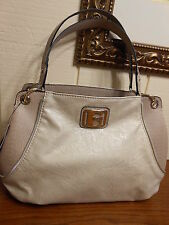 NWT GUESS GROSSETO CHAMPAGNE TOTE HANDBAG 100% AUTHENTIC