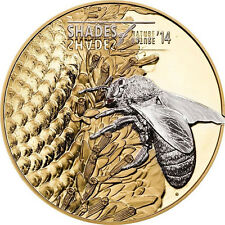 2014 Cook Is Large Silver Guilt Proof $5-Bee-Shades of Nature