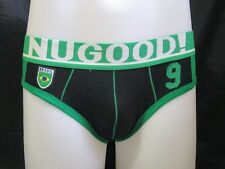 "XL 33"" - 36""  Black & Green BRASIL Authentic NUGOOD Men's Cotton Brief"