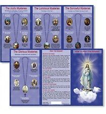 Hail Mary Our Father How to Pray the Rosary Tri Fold Reference Pocket Holy Card