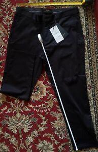 Zara Woman Black Solid Dress Pants Size 42