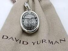 David Yurman Sterling Silver 925 Scarab Pendant Amulet No Chain