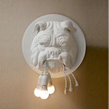 Modern LED Animal Head Wall Light Sconce Decor Home Bedroom Bulldog Wall Lamp
