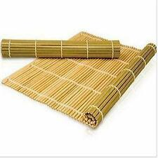 New Kitchen Bamboo Sushi Maker Rice Roll Mat Roller Rolling Equipment Kit X2pcs