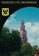 Ansichtkaart - Groningen - Martinitoren - Met adres en speciaal stempel - 1970