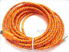10Ft Long USB Cord Micro Charger Cable for Samsung Galaxy S3 S4 4 III HTC Orange
