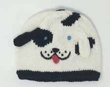 Blabla Kids Baby Beanie Hat 0-6 Months Hand Knitted Dalmation White Black Dog