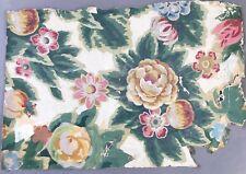 2/5: Mischtechnik Gemälde Blumen Entwurf Stoff od. Tapete cTh ~Cella Thoma ~1900