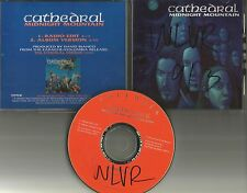 CATHEDRAL Midnight Mountain w/ RARE RADIO EDIT PROMO DJ CD Single 1993 USA