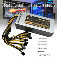 up 3000W Mining Powers Supply Miner Mining For ETH Rig Ethereum Miner S9 S7 L3+