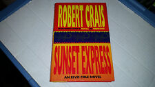 Sunset Express by Robert Crais (1996, Hardcover) SIGNED 1st/1st