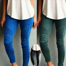 UK LADIES WOMEN HIGH WAISTED STRETCHY SKINNY TROUSERS JEGGING Pencil PANTS 6-16