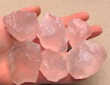100G Natural Raw Pink Rose Quartz Crystal Stone Specimen Healing F165OP