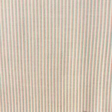 Brushed Cotton Striped Sewing Fabric Bone Pink Green SOLD x 1/2 metre