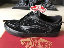 Vans Rowley Classic Trainers Skate Shoes Black Suede Leather UK 8