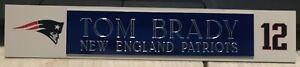 TOM BRADY  NEW ENGLAND PATRIOTS  NAME PLATE