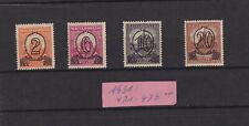 Ungarn 1931: Stephanskrone + Fischerbastei m. neuem Wert - Mi. 471 - 474 B**