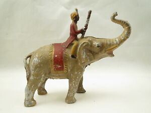 Indian soldier riding elephant, made in France
