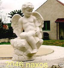 Ange grand modèle  statue d'ange assis 46 cm Plâtre ou béton