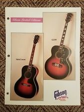1993 Gibson Guitars Dealer Info Sheet for J-200 & Nick Lucas Acoustic Case Candy