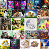 5D DIY Diamond Embroidery Painting Colorful Cat Cross Stitch Mosaic Home Decor