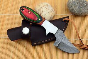 MH KNIVES CUSTOM HANDMADE DAMASCUS STEEL FULL TANG HUNTING/SKINNER KNIFE D-15X