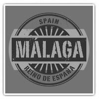 2 x Square Stickers 10 cm - Malaga Spain Reino De Espana Travel  #40501