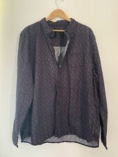 Mens Shirt F&F 3XL Blue Floral Long Sleeve Formal New <JJ13309