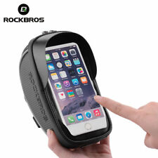 RockBros Cycling Bike Front Tube Waterproof Reflective Pannier Phone Bag Black
