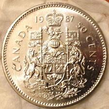 1987 Brilliant Uncirculated Half Dollar - 50 cent Coat of Arms