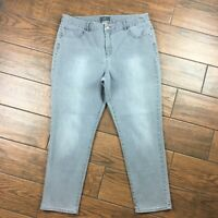 Chicos WOMENS 2.5 Ankle So Slimming Gray Denim Jeans