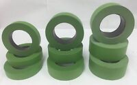 "1-48 Rolls 1"" 1.5"" or 2"" Frog Green Colored Painters Masking Tape Case Blem 2nd"