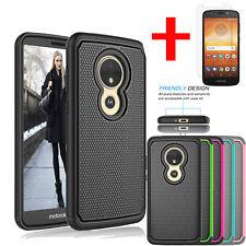For Motorola Moto E5 Play Case / Moto E5 Cruise Hybrid Cover + Tempered Glass