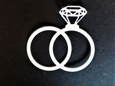 10 xentwined wedding ring,I do,card toppers paper craft wedding die cut.S2