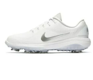Nike React Vapor 2 Golf Shoes White Cool Grey Metallic Men's Sz 10.5 BV1135-101