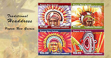 Papua New Guinea 2015 MNH Traditional Headdress 4v M/S East Sepik Province