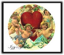 Vintage Gifted Line Grossman Valentine's Day Cherubs Angels Love Heart Stickers