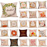 Fall Floral Quotes Decorative Pillow Covers Garland Maple Leaves Cushion Case