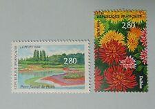 France année 1994 2909 2910 neuf luxe ** salon du timbre parc floral flore fleur