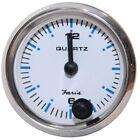 "13891 Faria 2"" Clock Chesapeake White w/Stainless Steel Bezel - Quartz Analog"