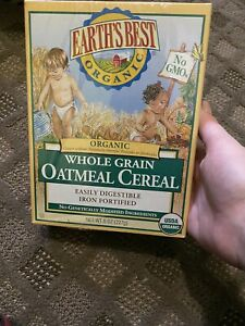 Earth's Best - Organic Whole Grain Oatmeal Cereal - 8 oz. Sealed.