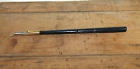 Vintage Antique Style Turned Black Horn Calligraphy Ink Dipping Pen