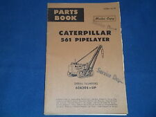 CAT CATERPILLAR 561 PIPELAYER PARTS BOOK MANUAL S/N 62A205-UP
