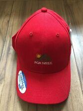 GOLF PGA WEST BASEBALL HAT LEGENDARY RED