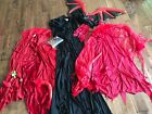 Lot Womens Halloween Costumes Elvira Devil Wings Dress Cosplay Small Role Play