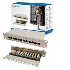12 puerto panel de conexiones cat6 red hub instalación cableado aplicar parches a LAN rj45