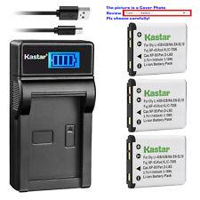 Kastar Battery LCD Charger for Nikon EN-EL10 MH-63 & Nikon Coolpix S3000 Camera